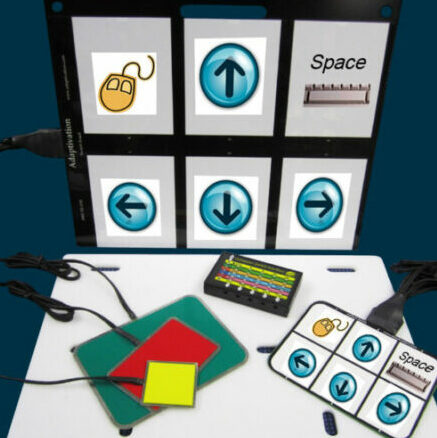 AAC Device with arrows and picture cards
